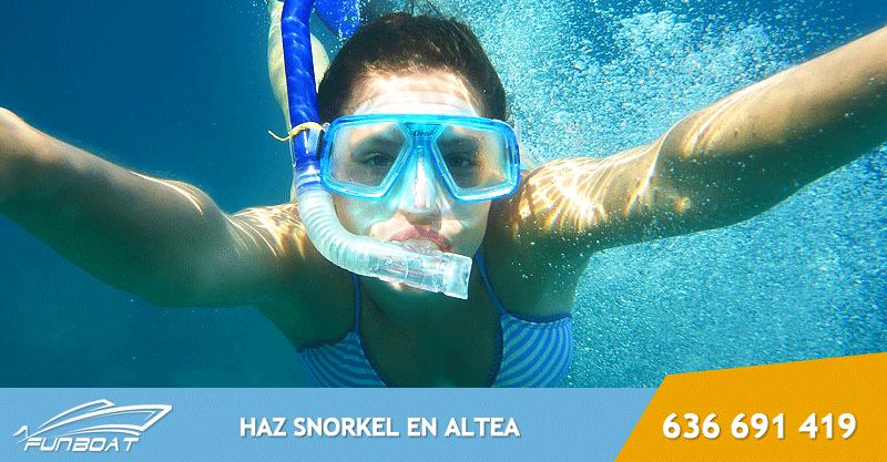 Como hacer snorkel en Altea