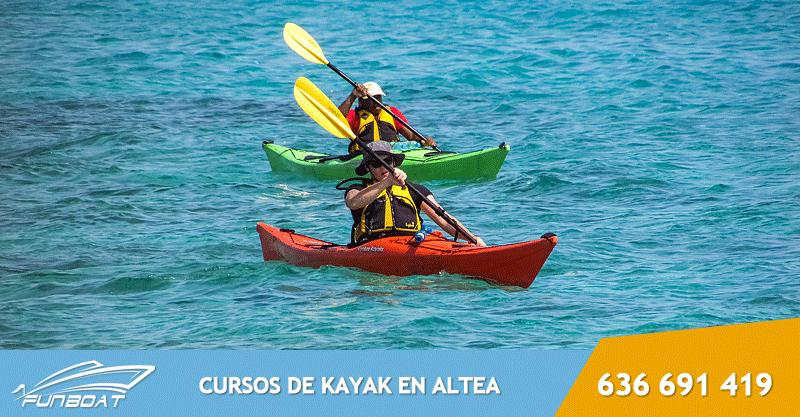 Curso de Kayak de mar Altea, Benidorm, Calpe