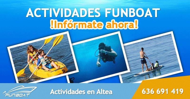 Actividades acuáticas Altea, Alicante. Kayak, Paddle Surf, Snorkel
