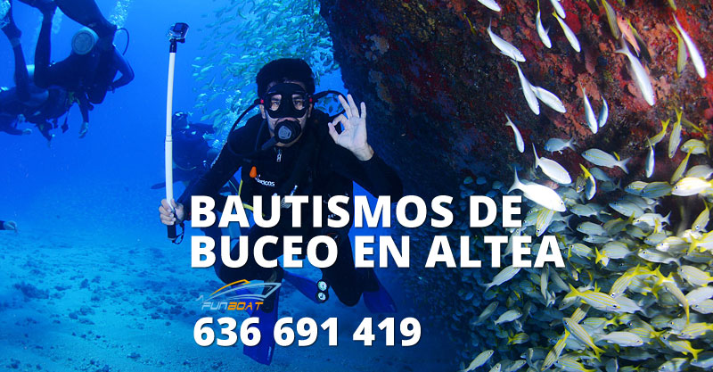 Bautismo buceo en Altea, Alicante